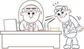 O chefe assinar com empregado — Vetorial Stock
