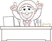 Boss Man Happy and Thanking God — Stock Vector