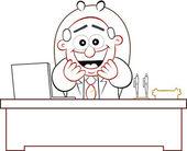 Boss Man Laughing — Stock Vector