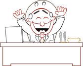 Boss Man Happy — Stock Vector