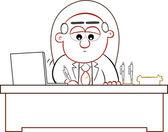 Boss mann unterzeichnung — Stockvektor
