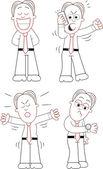 мультфильм бизнесмен набор — Cтоковый вектор