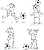 Soccer Player Set 2 — Stock Vector