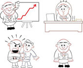Boss Man Set 16 — Stock Vector