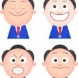 Funny Businessman Set — Stock Vector