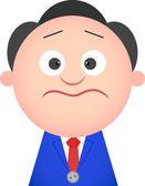 Funny Businessman Shocked — Stock Vector