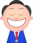 Homme d'affaires drôle souriant — Vecteur