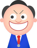 Funny Businessman Sneaky — Stock Vector