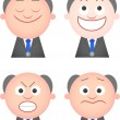 Stock Vector: Funny Boss Set