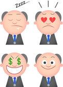 Funny Boss Set — Stock Vector