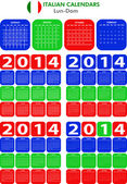 Calendar 2014 Italian — Stock Vector