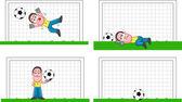 Goalkeeper Set — Stock Vector