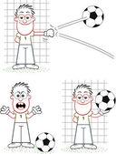 Goalkeeper Set — Vector de stock