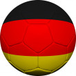 German Flag With Soccer Ball — Stock Photo