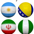 Soccer Championship 2014 Group F Flags — Stock Photo