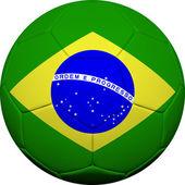 Brazilian Flag With Soccer Ball — Stock Photo