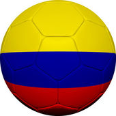 Colombian Flag With Soccer Ball — Stock Photo