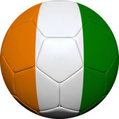 Ivory Coast Flag With Soccer Ball — Stock Photo