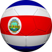 Costa Rican Flag With Soccer Ball — Stock Photo