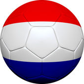 Russian Flag With Soccer Ball — Stock Photo