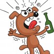 Drunk Dog — Stock Vector
