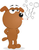 Dog Smoking — Vetorial Stock