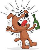 Drunk Dog — Stock Vector