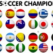 Soccer Championship 2014 Groups Flags — Stock Photo