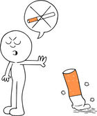 Hiç sigara karikatür — Stok Vektör