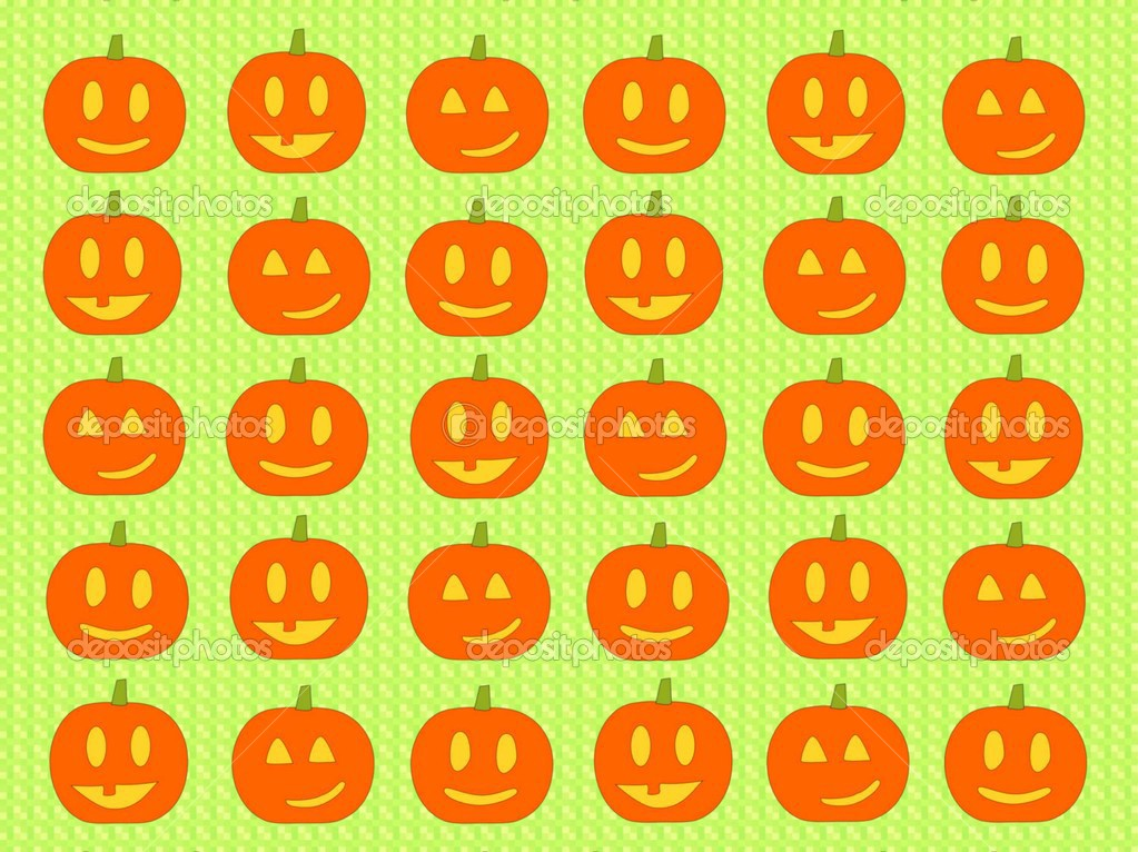 Halloween background with pumpkins — Photo #12805355