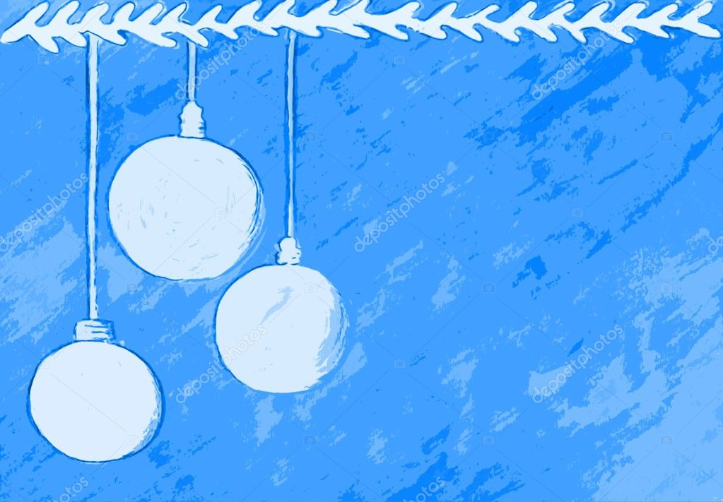 Christmas background with Christmas balls  Stock Photo #16206967