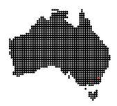 Map of Australia with map of Australian Capital Territory — Stock Vector
