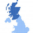 Постер, плакат: Map of United Kingdom with map of Scotland