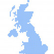 Постер, плакат: Map of United Kingdom with map of Shetland