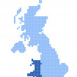 Постер, плакат: Map of United Kingdom with map of Wales