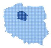 Map of Poland with map of Kuyavian-Pomeranian Voivodeship — 图库矢量图片