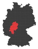Map of Germany with map of Hesse — Stock Vector