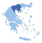 Map of Greece with map of Central Macedonia — Stock vektor