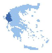 Map of Greece with map of Epirus — Stock Vector