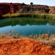 Bauxite Mine with Lake - Stock Photo