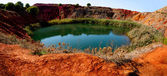 Bauxite Mine with Lake — Stock Photo