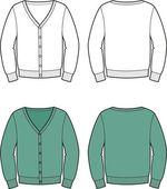 Vector illustration of men's cardigan — Stock Vector