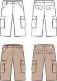Vector illustration of men's sport shorts — Stock Vector