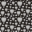 Black-and-white air-balloons — Stock Vector