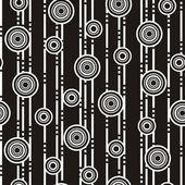 Black-and-white circles — Stock Vector