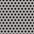 Black-and-white honeycombs — Stock Vector