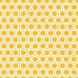 Honeycombs seamless pattern — Stock Vector