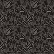 Seamless black-and-white pattern with spirals — Stock Vector