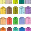 Business shirts — Stock Vector