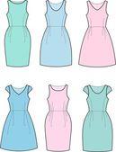 Romantic summer dress — Stock Vector